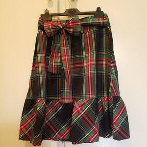 J.crew (factory) plaid skirt A-line.